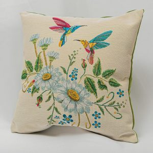 GK Furniture - Cushion, Birds and Flowers pattern
