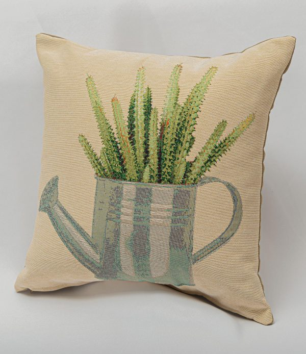 GK Furniture - Cushion, Cactus in Watering Can