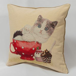 GK Furniture - Cushion, Cat and Cupcakes