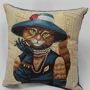 GK Furniture - Cushion, Cat with Blue Hat