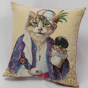 GK Furniture - Cushion, Cat with Jewels