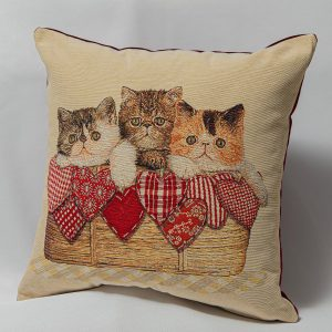 GK Furniture - Cushion, Cats in the Basket
