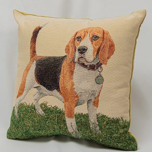 GK Furniture - Cushion, Dog on Grass