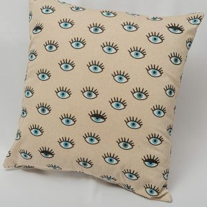 GK Furniture - Cushion, Eyes Pattern