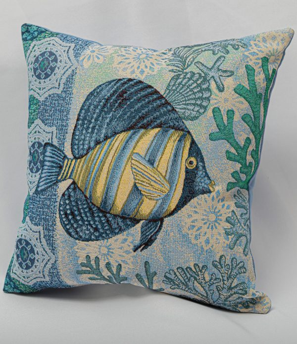 GK Furniture - Cushion, Fish pattern
