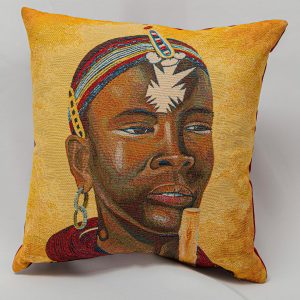 GK Furniture - Cushion, Tribe Portrait pattern