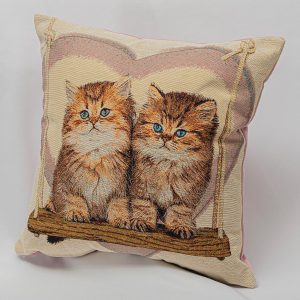 GK Furniture - Cushion, Two Cats