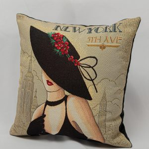 GK Furniture - Cushion, Woman in Black
