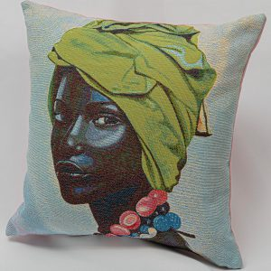 GK Furniture - Cushion, Woman's Portrait pattern